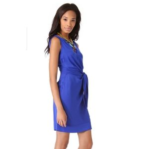 Diane von Furstenberg Della Taffeta Dress Blue 0